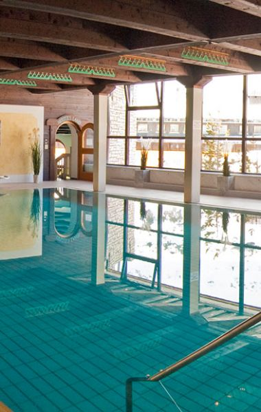 The original indoor pool at Hotel Das Kohlmayr