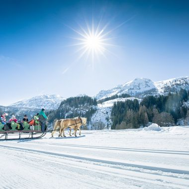 A sleigh ride in Obertauern